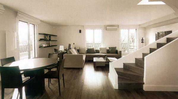 Appartement en duplex paris 16 eme architecte interieur for Duplex appartement paris